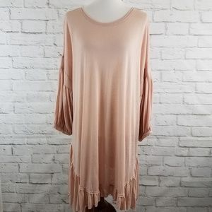 Free People FP Beach Cover Up Dress Peasant Sleeve